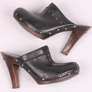Michael Kors Black Studded Mule Clogs 6